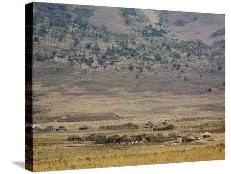 Masai Village Near Ngorongoro Crater, Tanzania-Adam Jones-Stretched Canvas Print