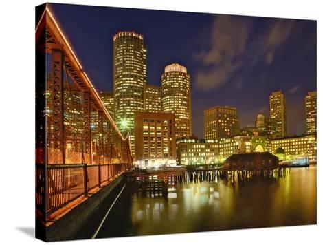 Boston Skyline at Dusk, Boston, Massachusetts-Adam Jones-Stretched Canvas Print