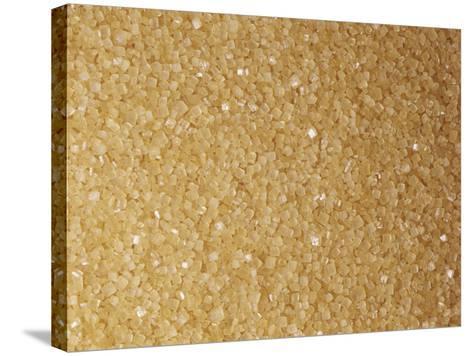 Brown and Coarse Turbinado Sugar Crystals from Sugarcane (Saccharum Officinarum)-Ken Lucas-Stretched Canvas Print