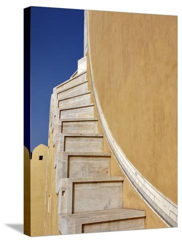 Jantar Mantar in Jaipur, One of Six Major Observatories Built by Maharajah, India-Adam Jones-Stretched Canvas Print