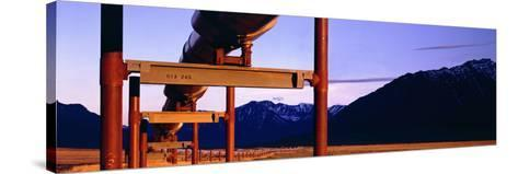 The Trans Alaska Pipeline Just North of the Brooks Range Looking South-Paul Andrew Lawrence-Stretched Canvas Print