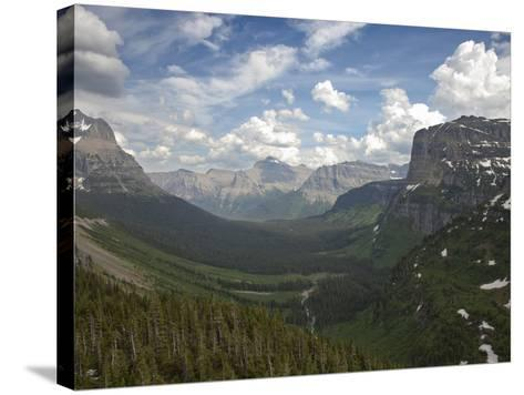 Glacial U-Shaped Valley, Glacier National Park, Montana, USA-Marli Miller-Stretched Canvas Print
