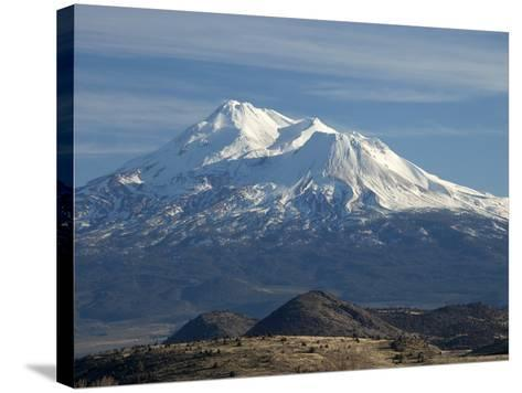 Mt Shasta, Dormant Stratovolcano in Northern California, Showing at Least Three of the Four-Marli Miller-Stretched Canvas Print