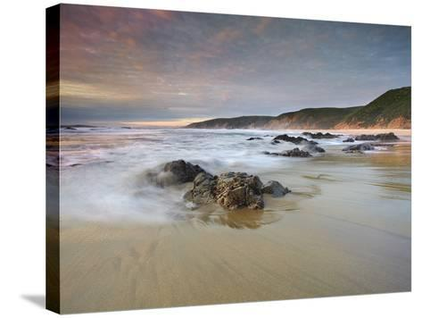 Waves Crashing onto the Rocky and Sandy Mcclure's Beach-Patrick Smith-Stretched Canvas Print