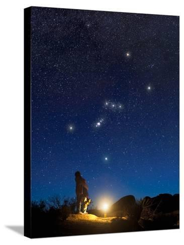 Star Gazers Observing Orion-David Nunuk-Stretched Canvas Print