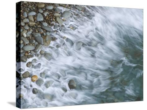 Wave Breaking on Rocky Beach, California, USA-Arthur Morris-Stretched Canvas Print