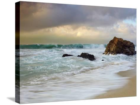 Crashing Waves, Garrapata State Park, Big Sur, California, USA-Patrick Smith-Stretched Canvas Print