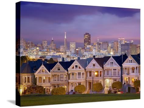 Alamo Square and the Victorian Style Painted Ladies Homes, San Francisco, California, USA-Patrick Smith-Stretched Canvas Print