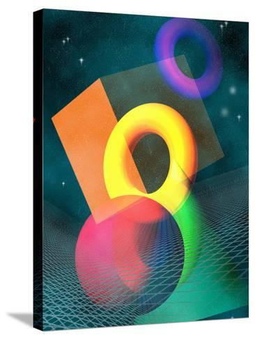 Geometric Solids in Space-Carol & Mike Werner-Stretched Canvas Print