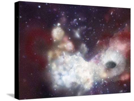 Sagittarius A, an Artist's Concept of a Black Hole at the Center of the Milky Way Galaxy-Carol & Mike Werner-Stretched Canvas Print