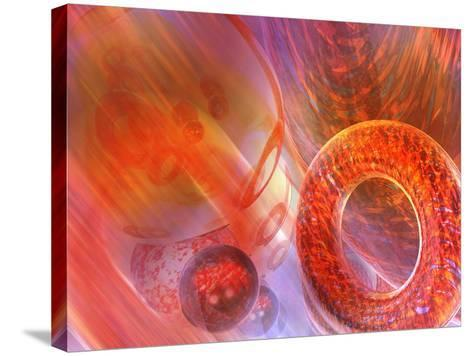 Mathematics Abstract with Movement in Time and Space-Carol & Mike Werner-Stretched Canvas Print