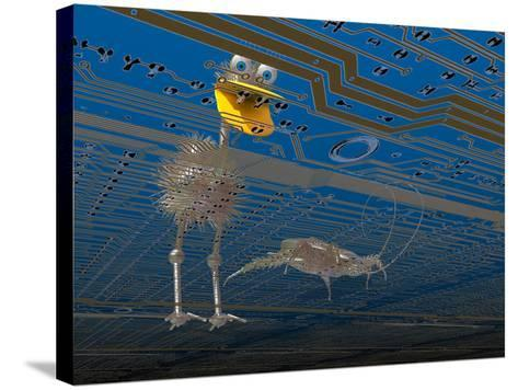 Debugger, Computer Software Got Bugs? This Little Guy Is Just What You Need-Carol & Mike Werner-Stretched Canvas Print