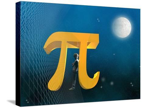 Boy Likeness with Pi Symbol-Carol & Mike Werner-Stretched Canvas Print