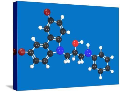 P7C3 Molecular Model-Carol & Mike Werner-Stretched Canvas Print