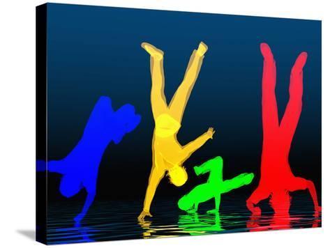 Breakdancers-Carol & Mike Werner-Stretched Canvas Print