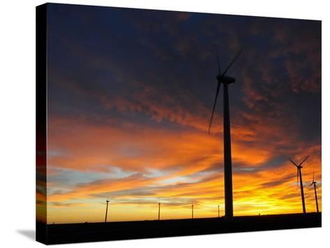Wind Turbines-Tom Ulrich-Stretched Canvas Print