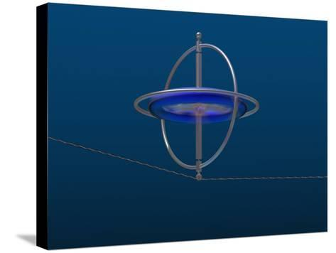 Gyroscope Spinning Along a Wire-Carol & Mike Werner-Stretched Canvas Print
