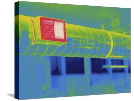 Thermogram - Heating Ducts-Scientifica-Stretched Canvas Print