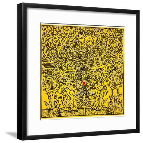 Untitled 1985-Keith Haring-Framed Art Print