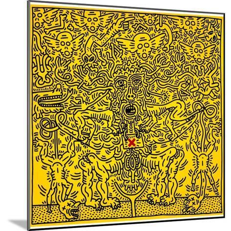 Untitled 1985-Keith Haring-Mounted Giclee Print