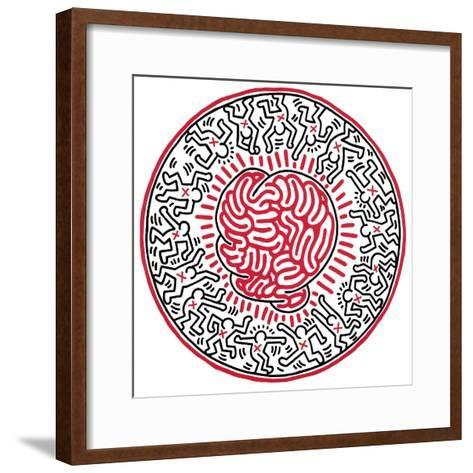 Untitled, 1985-Keith Haring-Framed Art Print