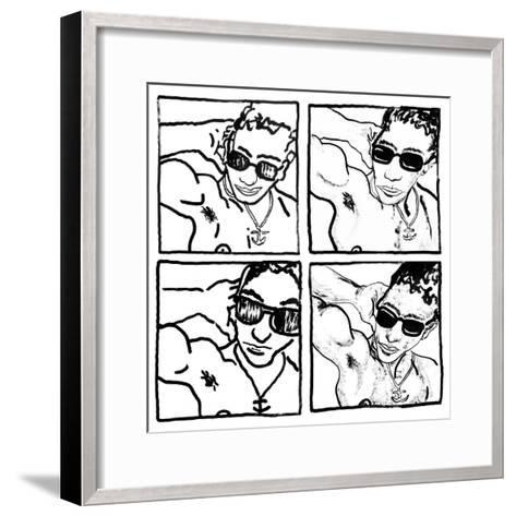 Gil, July 14, 1988-Keith Haring-Framed Art Print