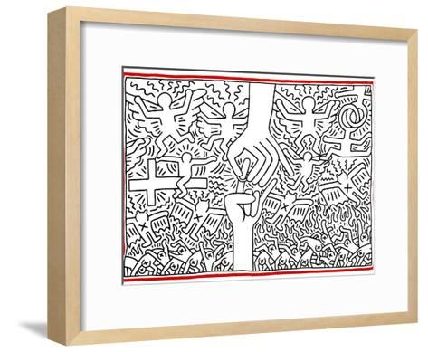 The Marriage of Heaven and Hell, 1984-Keith Haring-Framed Art Print