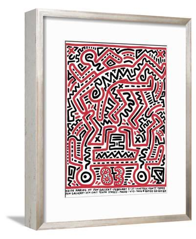 Fun Gallery Exhibition, 1983-Keith Haring-Framed Art Print