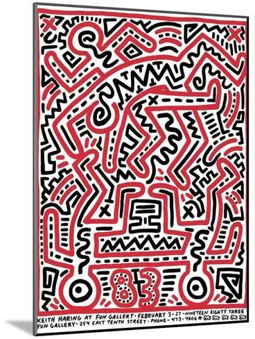 Fun Gallery Exhibition, 1983-Keith Haring-Mounted Giclee Print