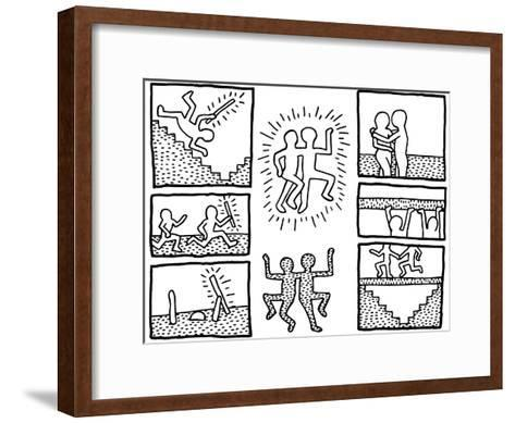 The blueprint drawings 1990 framed giclee print by keith haring the blueprint drawings 1990 keith haring framed art print malvernweather Choice Image