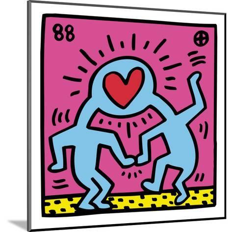 Pop Shop (Heart)-Keith Haring-Mounted Art Print