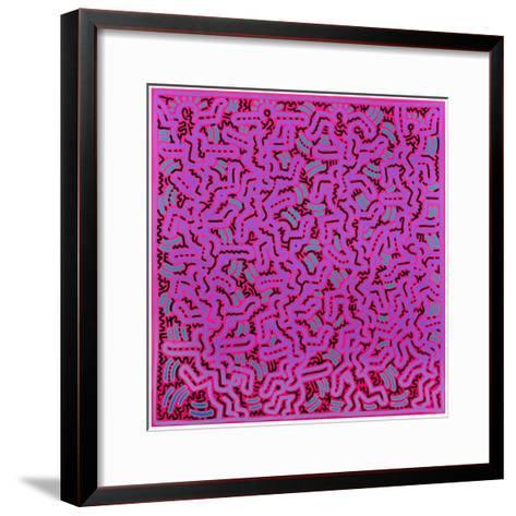 Untitled, June 1, 1984-Keith Haring-Framed Art Print