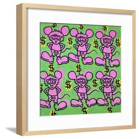 Andy Mouse 1985-Keith Haring-Framed Art Print