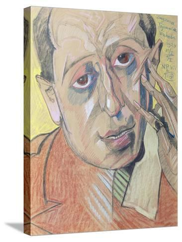 Portrait of a Man, 1924 (Pastel on Paper)-Stanislaw Ignacy Witkiewicz-Stretched Canvas Print