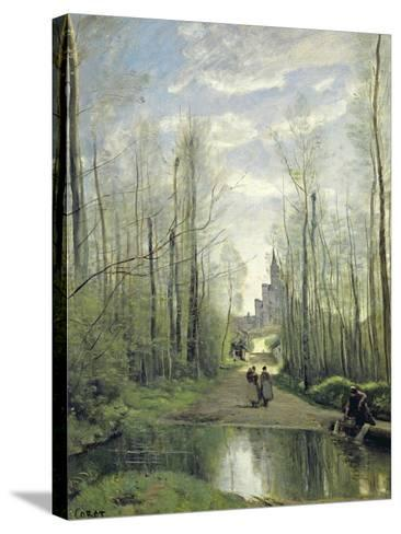 The Church at Marissel, 1866-Jean-Baptiste-Camille Corot-Stretched Canvas Print
