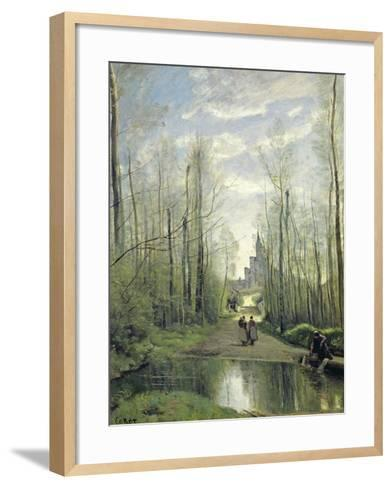 The Church at Marissel, 1866-Jean-Baptiste-Camille Corot-Framed Art Print