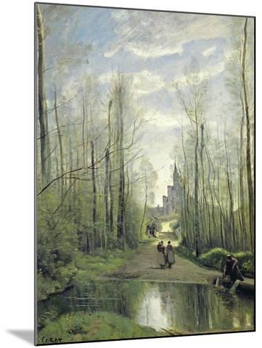 The Church at Marissel, 1866-Jean-Baptiste-Camille Corot-Mounted Giclee Print