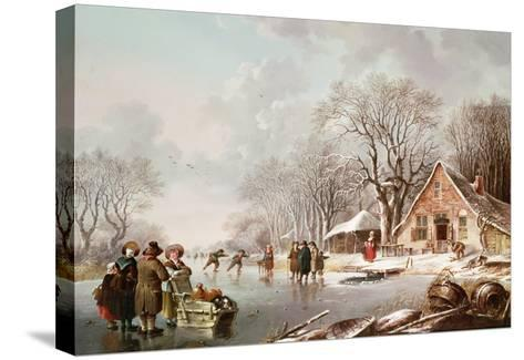 Winter Scene-Andries Vermeulen-Stretched Canvas Print