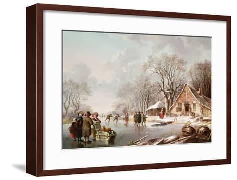 Winter Scene-Andries Vermeulen-Framed Art Print