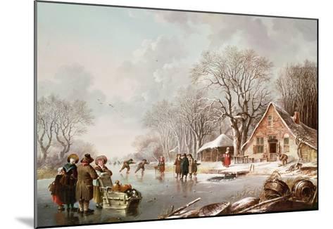 Winter Scene-Andries Vermeulen-Mounted Giclee Print