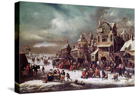 Winter Landscape-Rutger Verburgh-Stretched Canvas Print