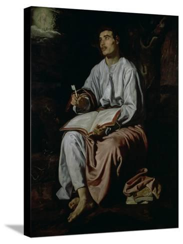 St. John the Evangelist on the Island of Patmos, c.1618-Diego Velazquez-Stretched Canvas Print