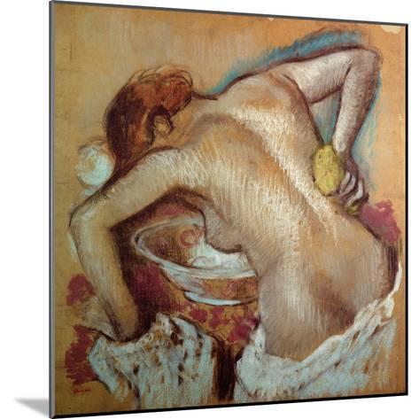 Woman at Her Toilet, C.1894 (Pastel)-Edgar Degas-Mounted Giclee Print