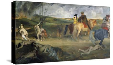 Scene of War in the Middle Ages, c.1865-Edgar Degas-Stretched Canvas Print
