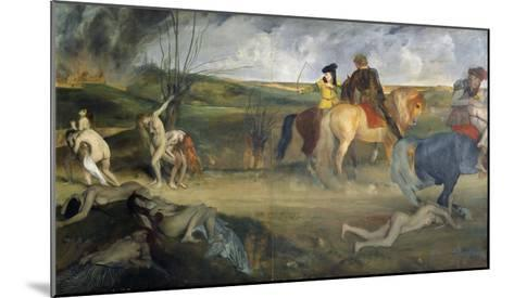 Scene of War in the Middle Ages, c.1865-Edgar Degas-Mounted Giclee Print