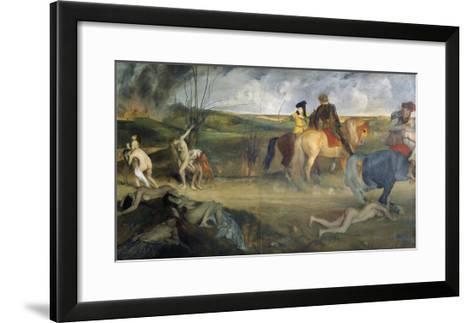 Scene of War in the Middle Ages, c.1865-Edgar Degas-Framed Art Print