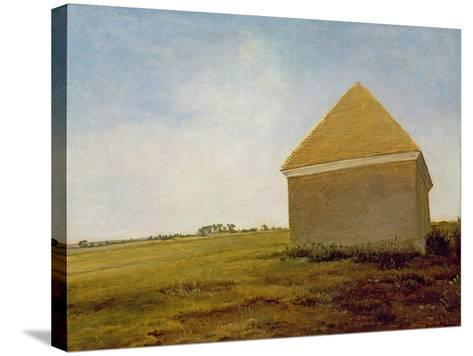 Newmarket Heath, with a Rubbing-Down House, c.1765 (Post-Restoration)-George Stubbs-Stretched Canvas Print