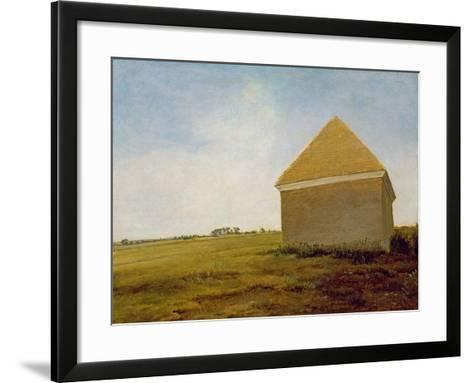 Newmarket Heath, with a Rubbing-Down House, c.1765 (Post-Restoration)-George Stubbs-Framed Art Print