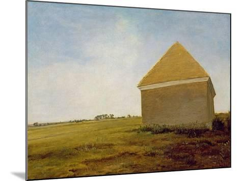 Newmarket Heath, with a Rubbing-Down House, c.1765 (Post-Restoration)-George Stubbs-Mounted Giclee Print