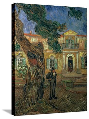 St. Paul's Hospital, St Remy, 1889-Vincent van Gogh-Stretched Canvas Print